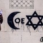 World famous French artist attaked by four Muslims over Coexist painting