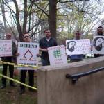 Tim Wise protested at Queens University