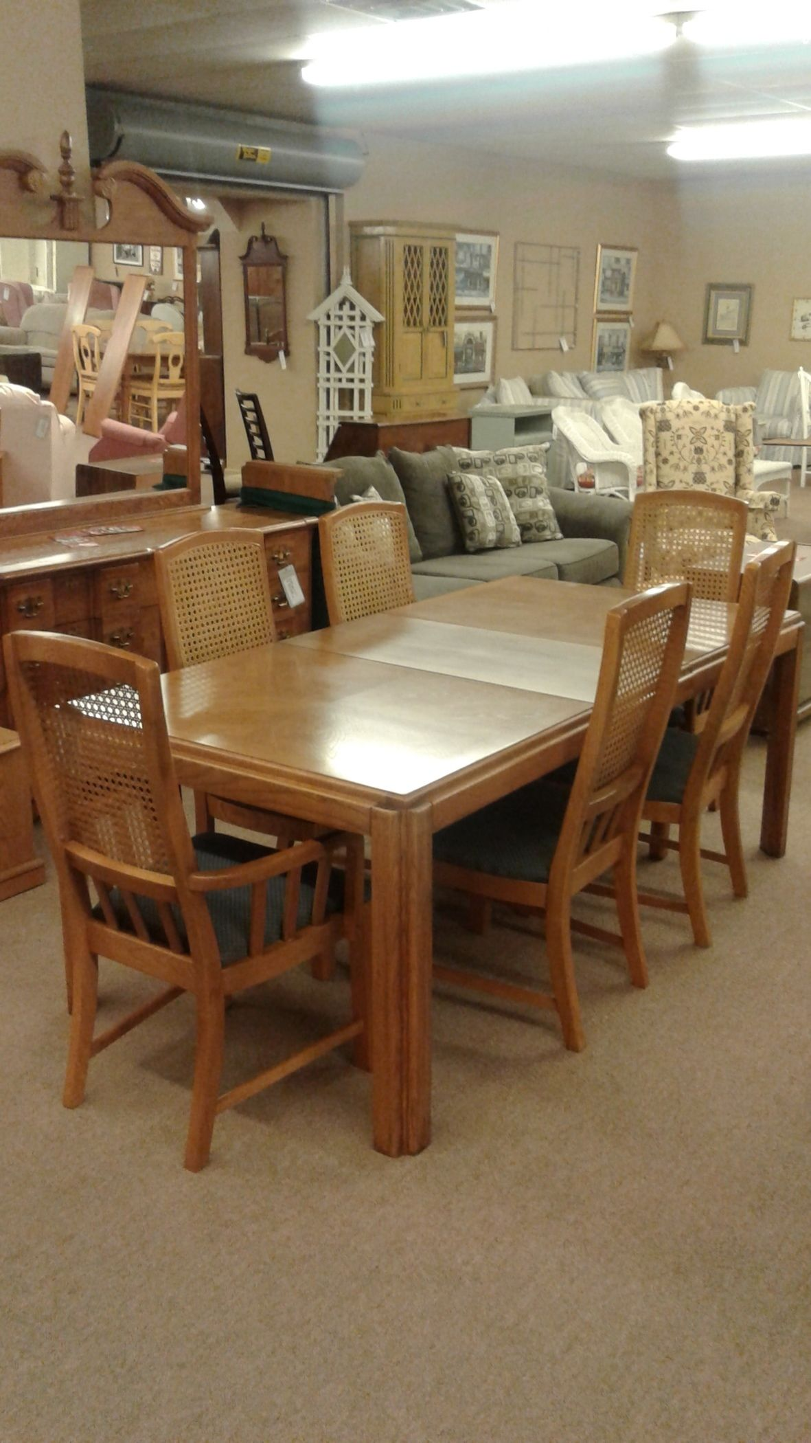 Basset Dining Room Bassett Dining Table W Chairs Delmarva Furniture Consignment
