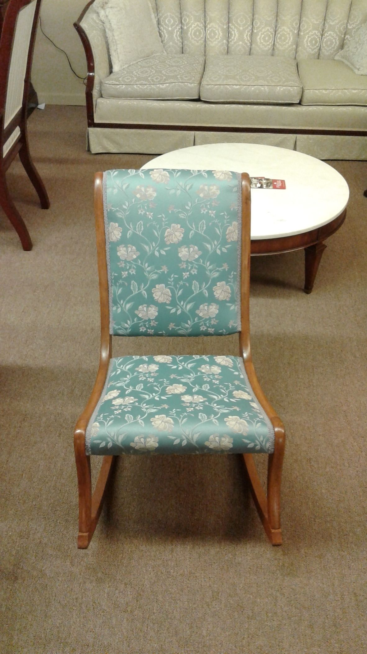 Upholstered Rocking Chair Blue Upholstered Rocking Chair Delmarva Furniture
