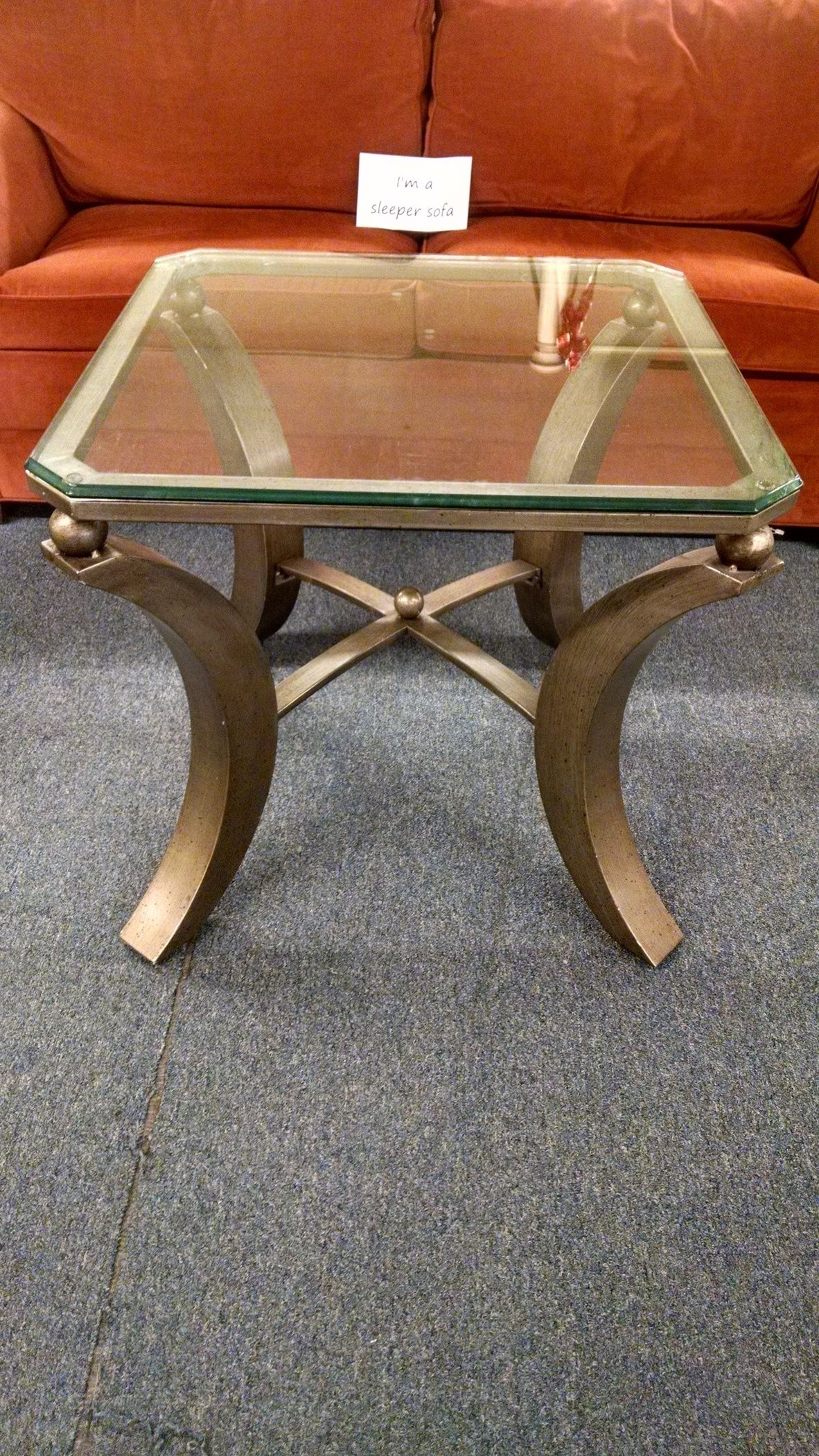 End Tables With Metal Legs Glass Top End Table Metal Legs Delmarva Furniture