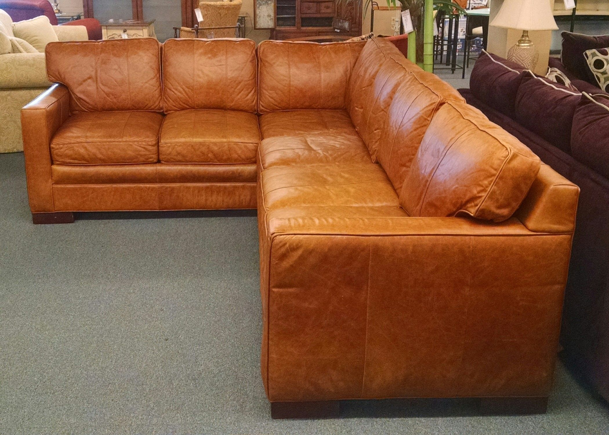Vanguard Leather Vanguard Leather Sectional Delmarva Furniture Consignment