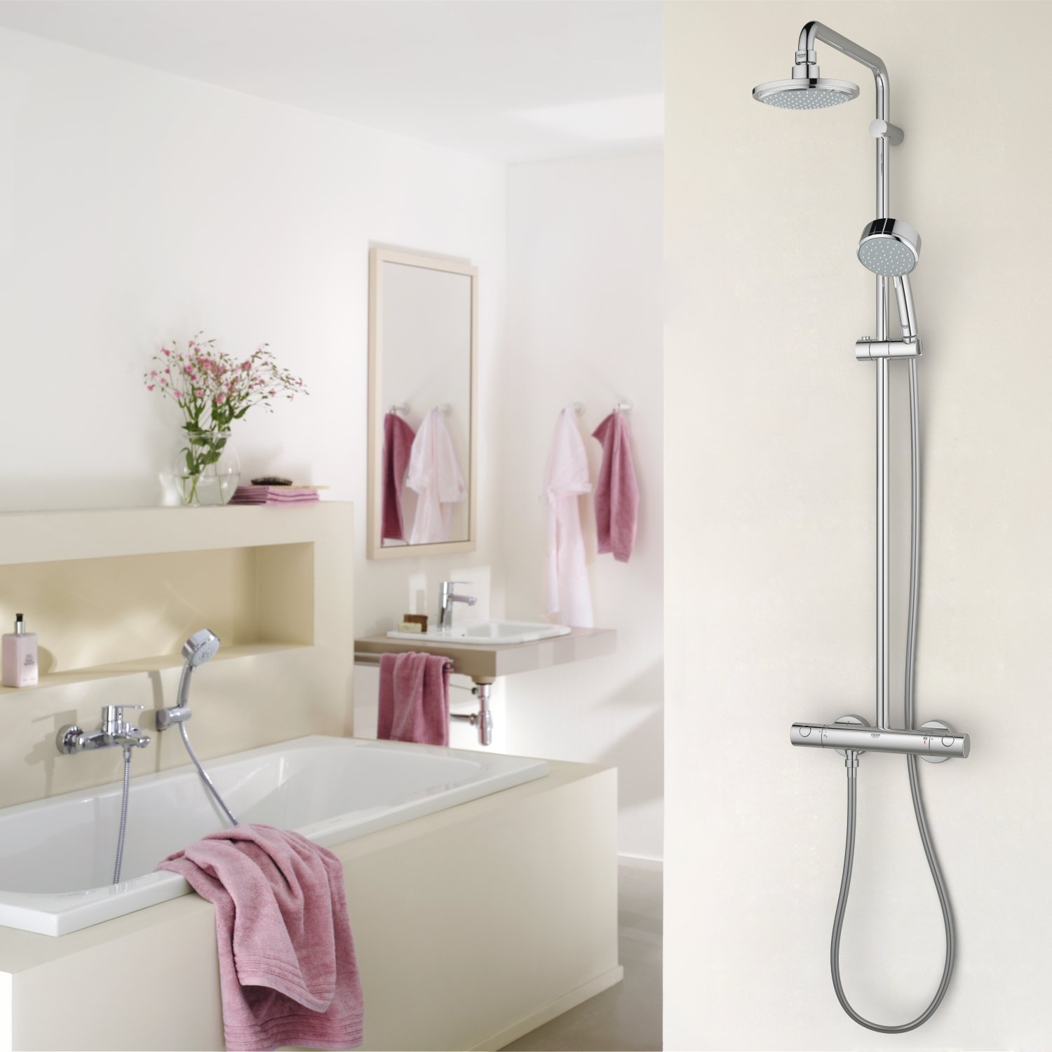 Grohe Euphoria Douchesysteem 180 Chroom Grohe Euphoria System 180 Douchesysteem Met Thermostaat
