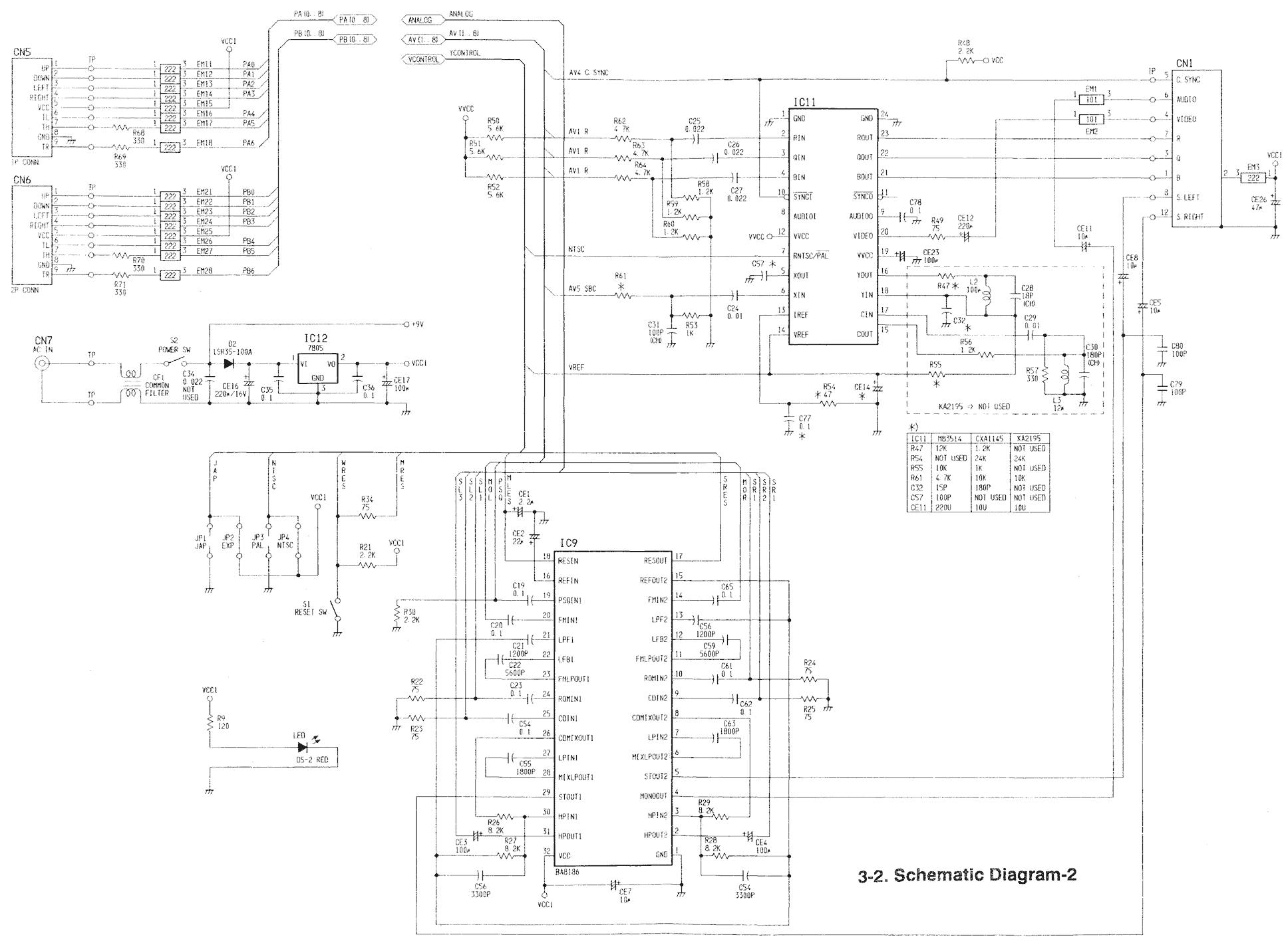 nes wiring diagram
