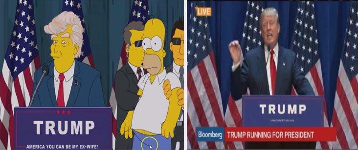 Predictive Programming Simpsons predicting Donald Trump