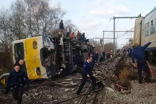 Belgique / accident : Le déraillement d'un train fait un mort et 27 blessés