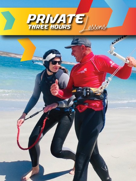 kitesurfing lessons langebaan 3 hours private