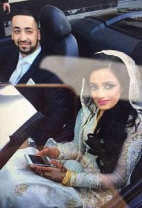 Usman Ali and wife Sakina Parveen on their wedding day - 24 hours before disaster