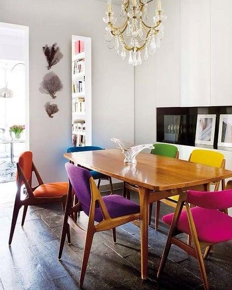 Cadeiras Para Sala De Jantar Retro ~ Salas de jantar decoradas 25+ Modelos, Ideias e Fotos!