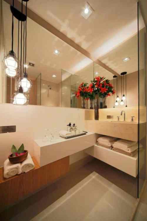 pendente moderno no lavabo