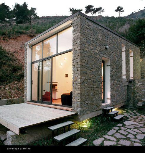Casa de pedras rustica e moderna