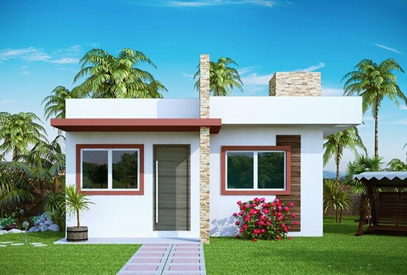 17 ideias de fachada para casas pequenas veja fotos for Fachadas de viviendas modernas