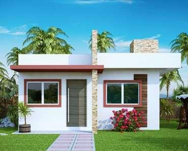 fachada de casa simples e moderna