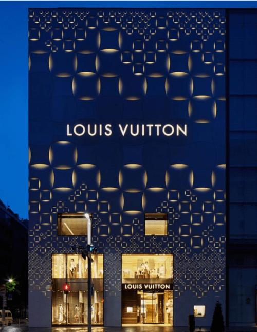 12 fachada de loja louis vuitton com iluminacao moderna
