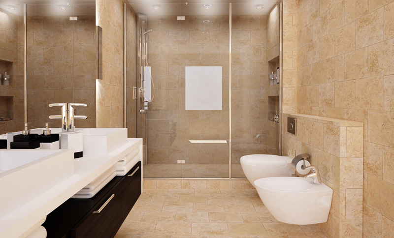 Sol En Travertin Best Pose Travertin Salle De Bain Photos - House Design