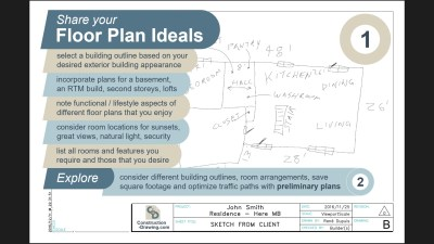 Roughly sketch your plan, email a photo, and we will discuss.