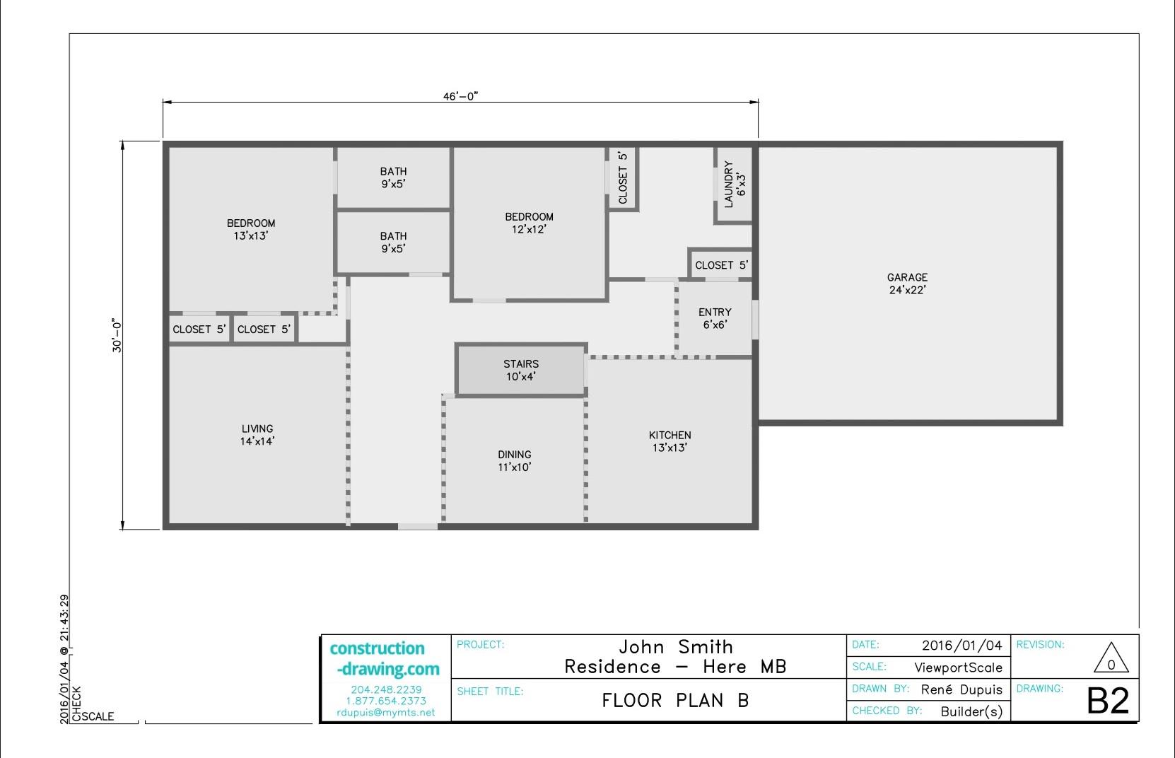 Custom Floor Plans - Construction-Drawing.com