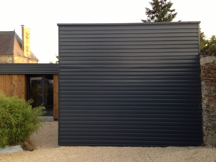 Porte Exterieur Gris Anthracite Garages - Carports - Ateliers, Passion Bois - Construction