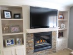 Built in bookshelf Fireplace Remodel
