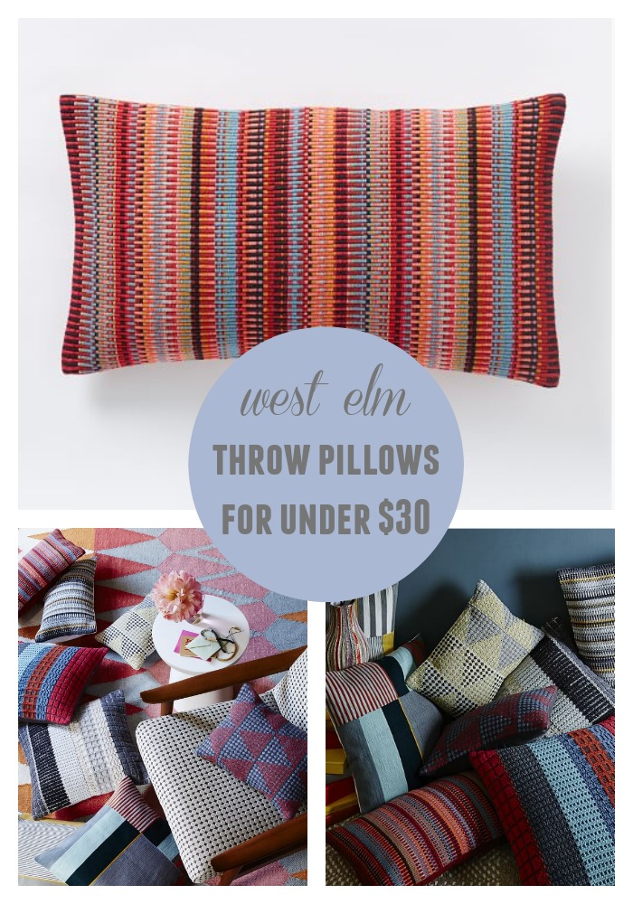 Decorative throw pillows for under 30 construction2style West elm pillows