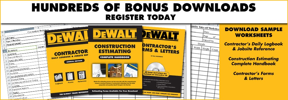 Contractor Forms, Safety Inspection Checklists and More Free Downloads