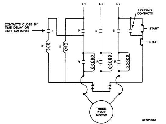 part winding start motor wiring diagram
