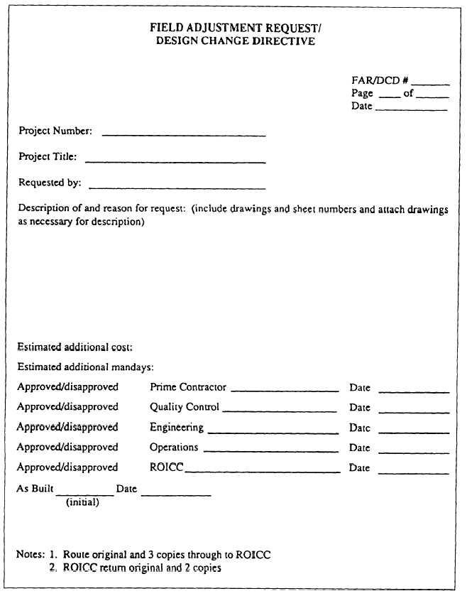 Figure 3-4Design change request