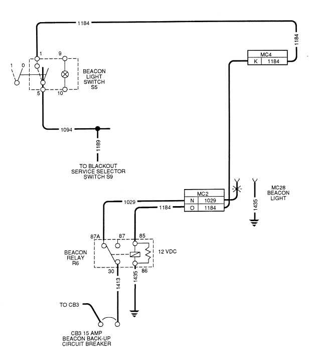beacon light wiring diagram