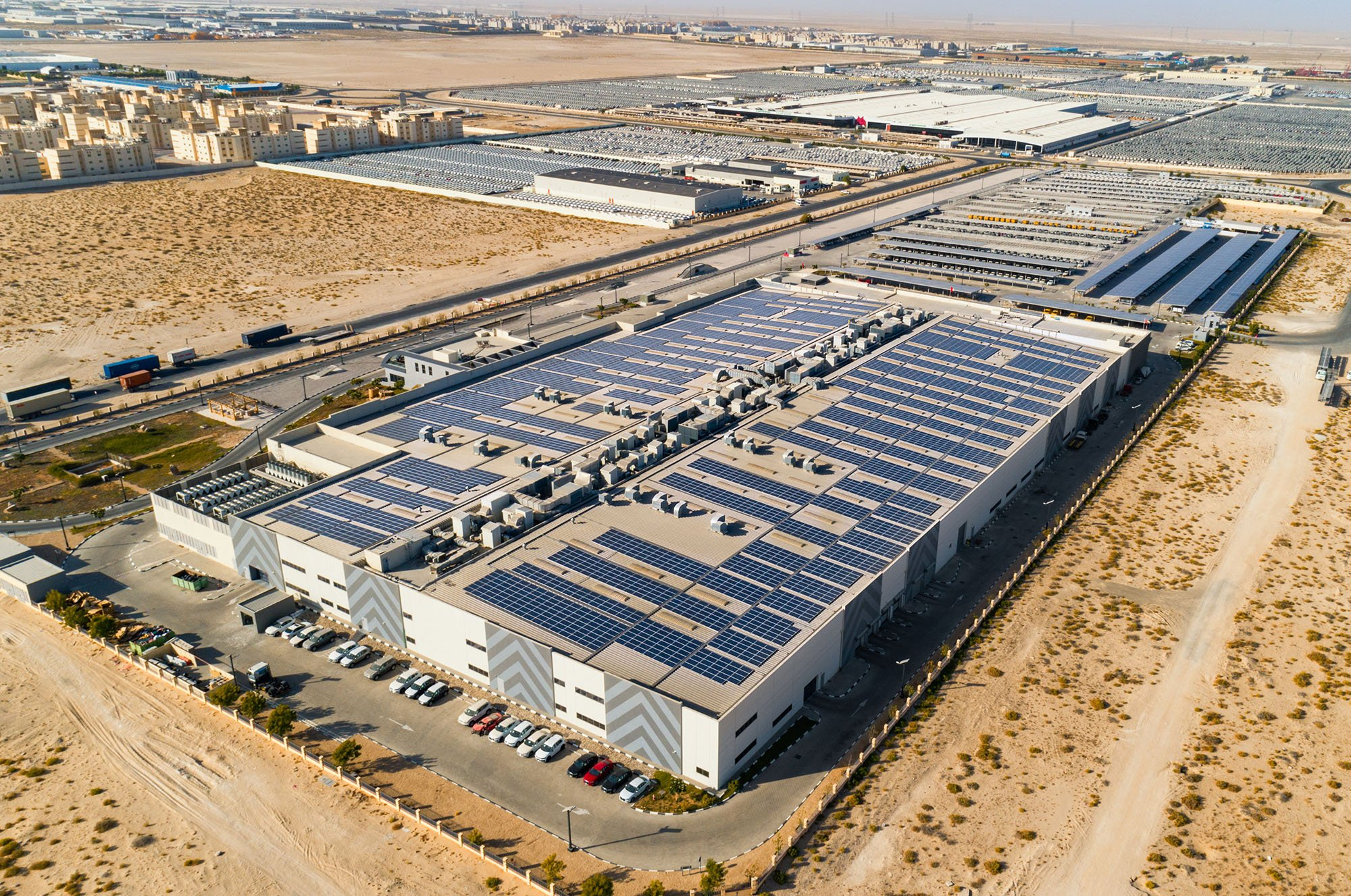 Karpot 3.1mwp Solar Carport Launched For Al Nabooda Automobiles In Dubai
