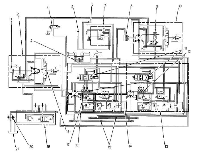 Hydraulic Schematic for the Propel System