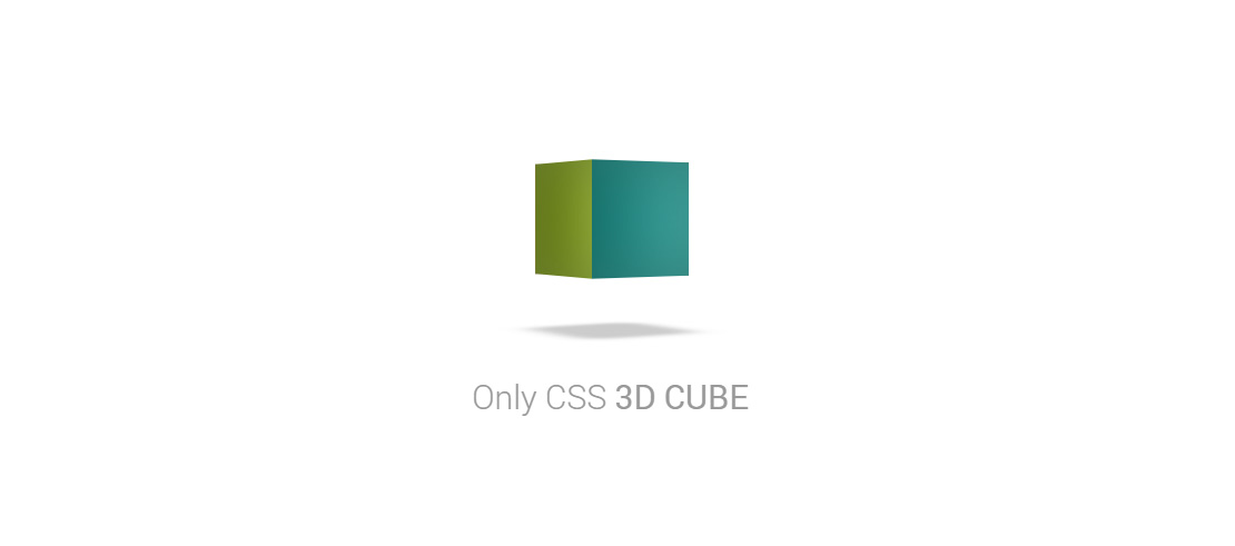 Pure CSS 3D Cube Animation