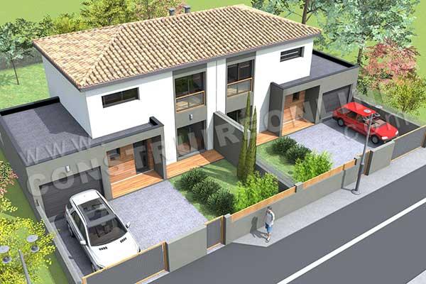 Vente de plan de maison moderne - Plan De Maison Moderne