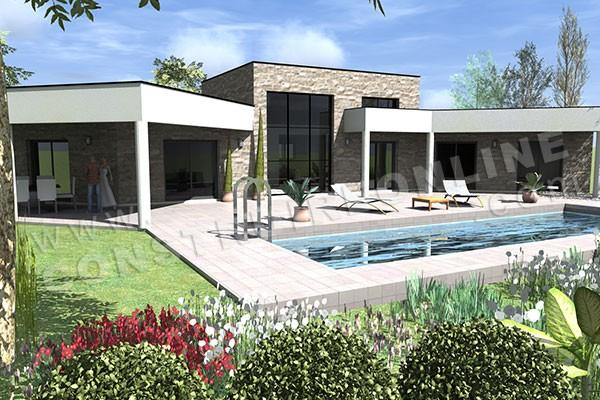 Plan Maison En Forme De U Plan Maison Exemple Plan De Maison With