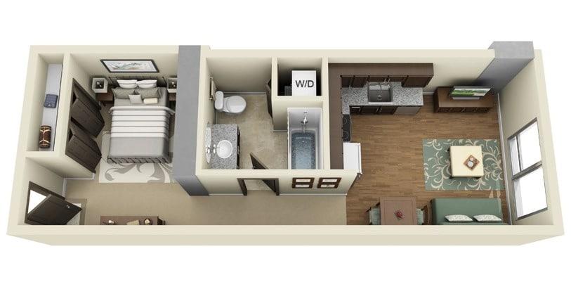 Plano-de-departamento-de-un-dormitorio-Ladd-Carriage-House House