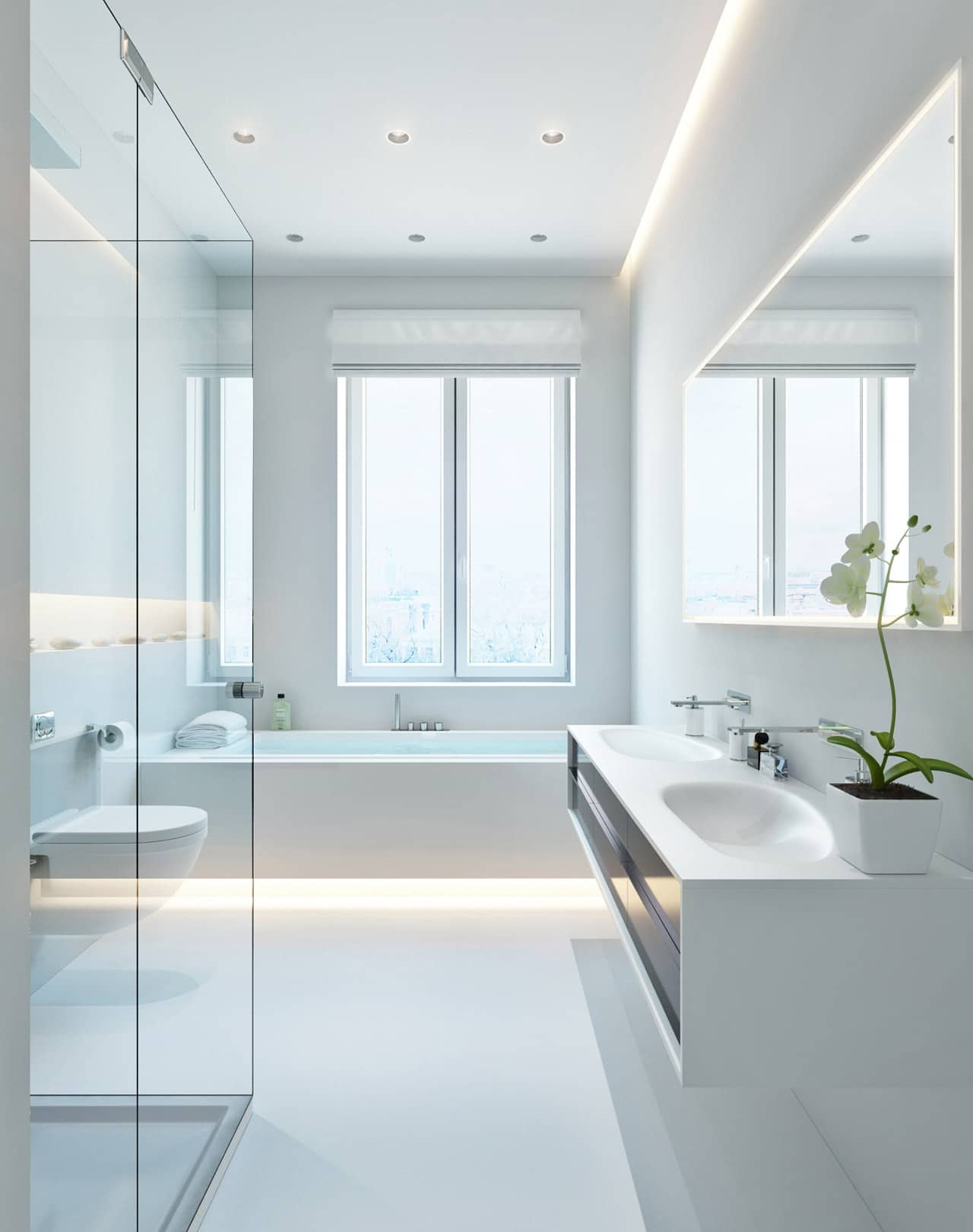 Diseño Dormitorios Baños Modernos   Ante BaÑo BaÑos Baños Modernos ...