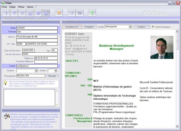 logiciel cv style