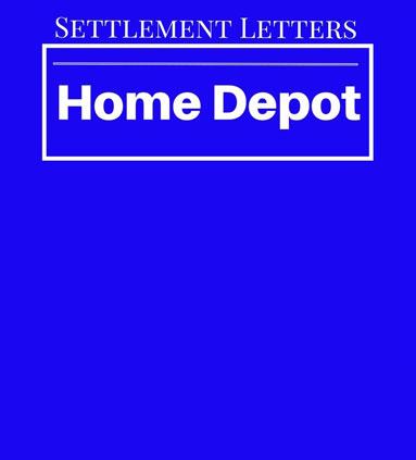 Home Depot \u2013 Consumer DEBT HELP ASSOCIATION
