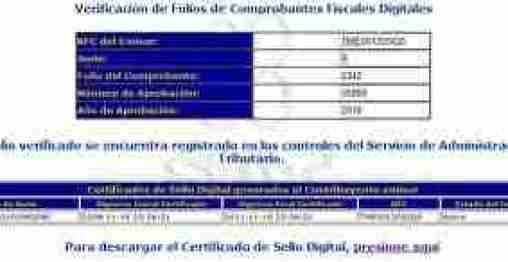 resultadoverificacionfacturacionDIGITAL thumb Como Verificar los Comprobantes Fiscales Digitales e Impresos