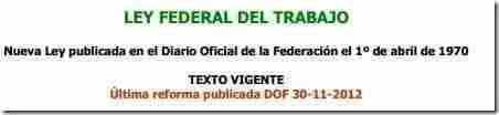lft 2012 reforma laboral Descargar la Nueva Ley Federal del Trabajo con Reforma Laboral en PDF