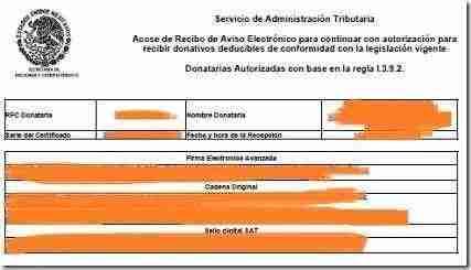 acuse aviso donataria thumb Como presentar el Aviso Electrónico de continuidad de Donatarias Autorizadas