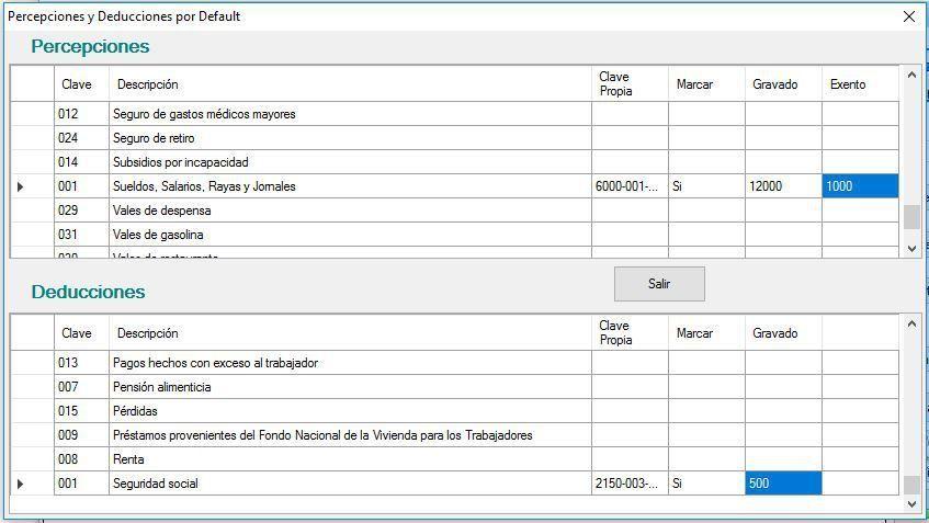 Plantilla para timbrar en CFDI Nóminas con Complemento versión 12