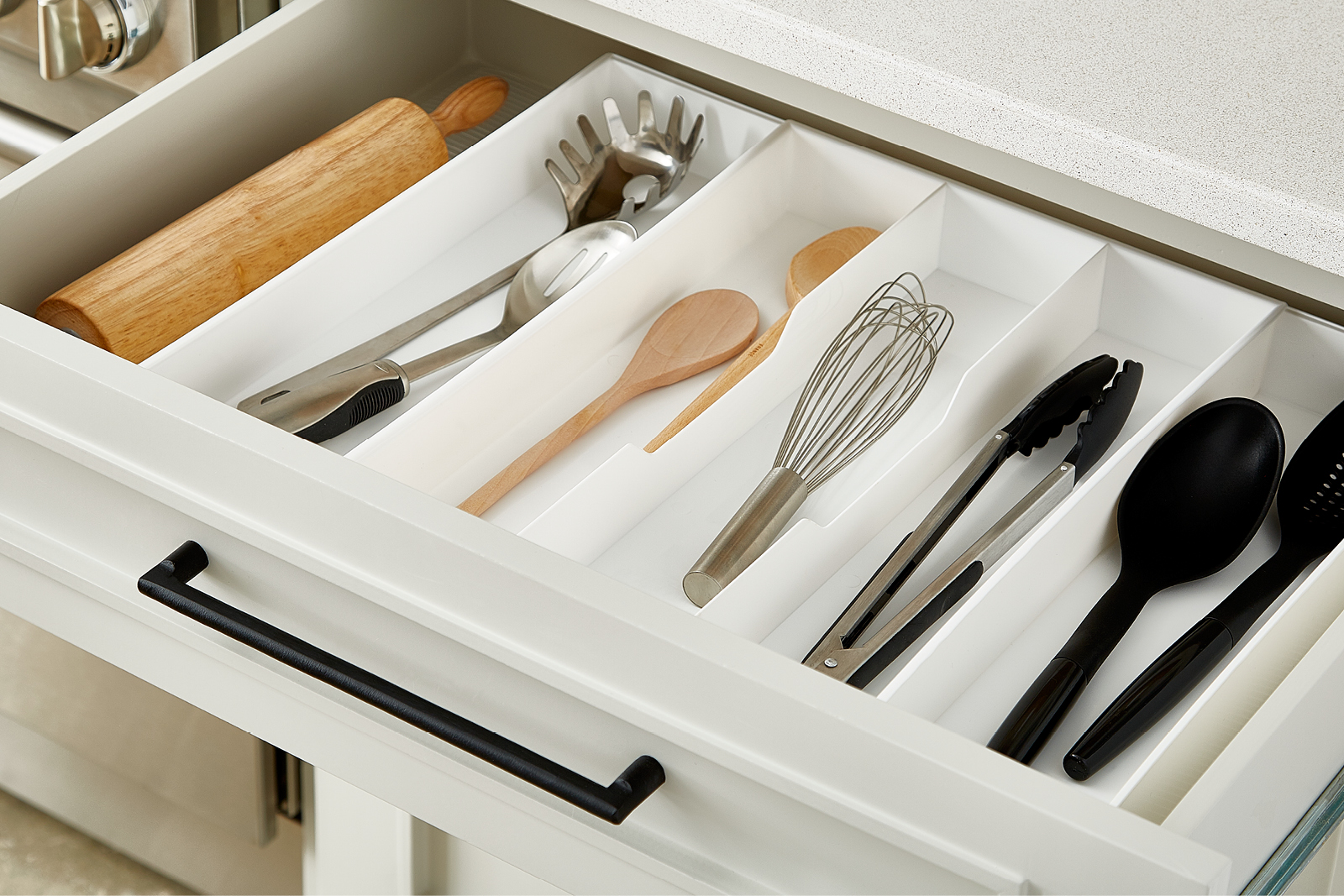 Kitchen Cabinet Drawer Organizers Everything But The Kitchen Sink Container Stories