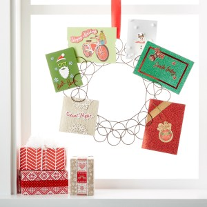 Magnificent Fresh Ideas Your Home Holiday Card Displays Container Stories Itwill Ly Display Your Holiday Greeting Cards Hang Our Spiral Wreath Card Her On A Hook Anywhere