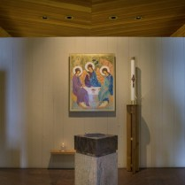 The foyer of the chapel.