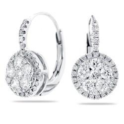 Phantasy Babies G Lever Back Earrings G Lever Back Earrings Diamonds G Earrings Round Diamond Cluster Long G Earrings