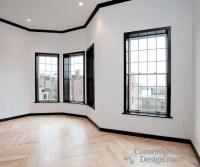White walls black trim