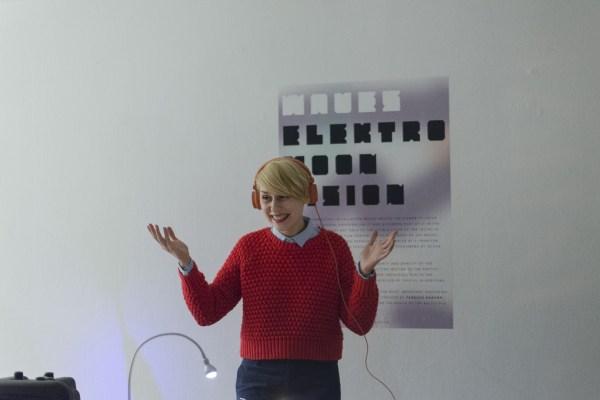Kornelia Binicewicz - Ladies on Records, opening night at Platan Gallery, photo Hegyháti Réka / Platan Gallery