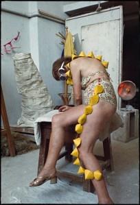 Zofia-Kulik-Instead-of-Sculpture-Lady-Haline-and-Cones-1968