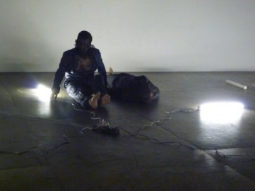 Cover Image: Lovett/Codagnone, WEIGHTED, 2010. Performance at the ICA, Philadelphia. Photo: Courtesy the artists.