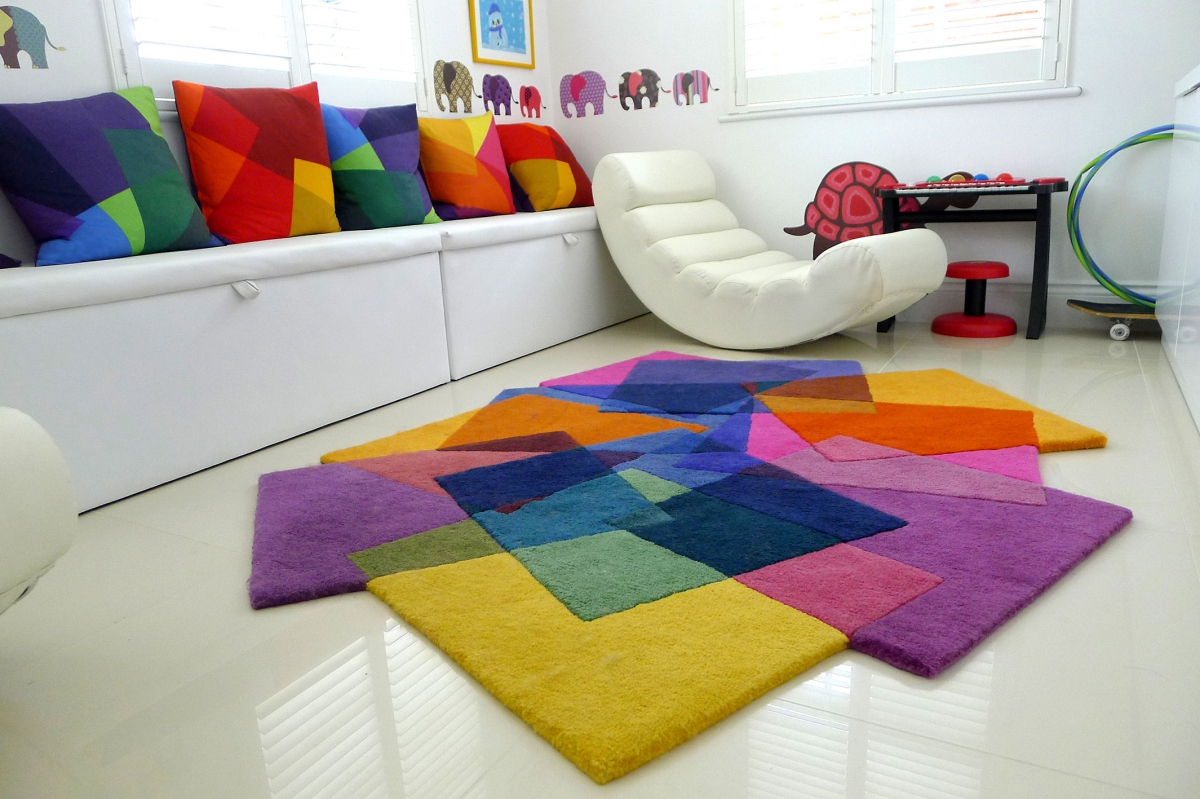 Rainbow Kids Rooms Colorful Rug Colorful Rug